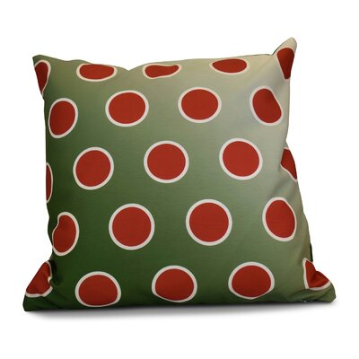 Holiday Bubbly Throw Pillow Size: 26 H x 26 W, Color: Green