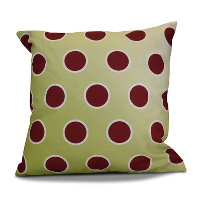 Holiday Bubbly Throw Pillow Size: 16 H x 16 W, Color: Light Green