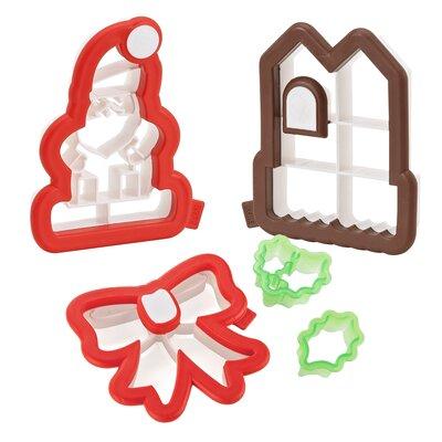 3-D Christmas Cookie Cutter Kit Set