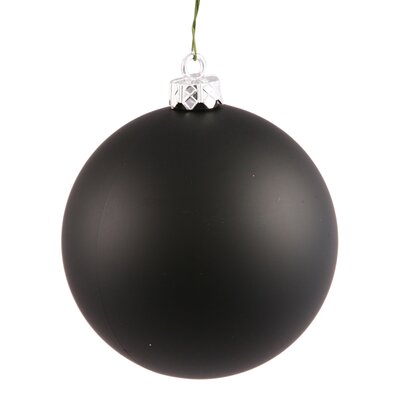 Ball UV Drilled Cap Christmas Ornament Color: Black