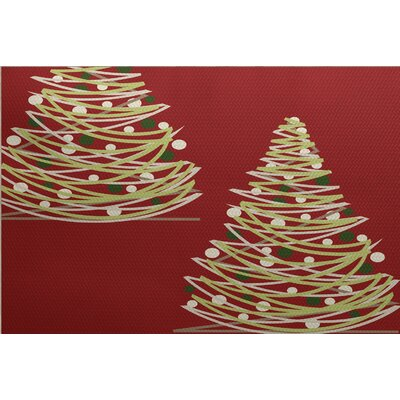Christmass Red Indoor/Outdoor Area Rug Rug Size: Rectangle 2 x 3