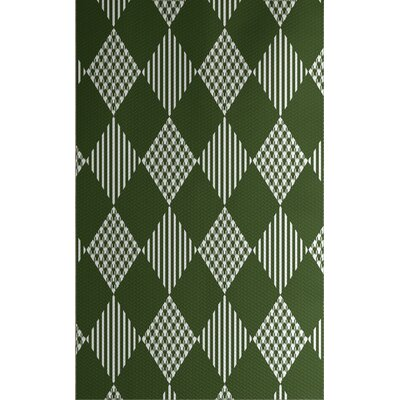 Christmass Green Indoor/Outdoor Area Rug Rug Size: Rectangle 2 x 3