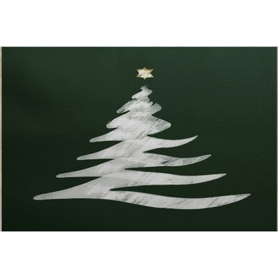 Christmass Tree Green Indoor/Outdoor Area Rug Rug Size: Rectangle 3 x 5