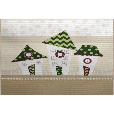 Christmass Green Indoor/Outdoor Area Rug Rug Size: 4 x 6