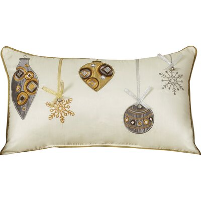 Holiday Ornaments Lumbar Pillow Color: Gold / Silver