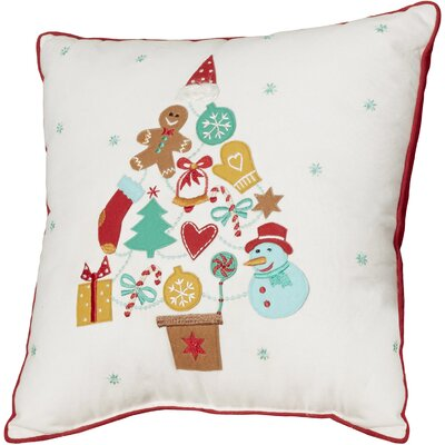 Gift Tree 100% Cotton Throw Pillow