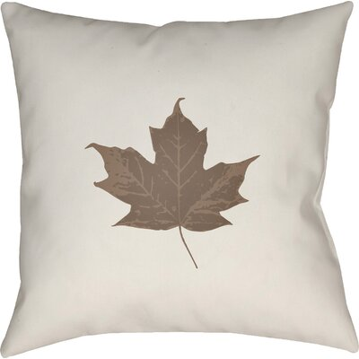 Maple Leaf Indoor/Outdoor Pillow Size: 20 H x 20 W x 4 D, Color: White/Brown