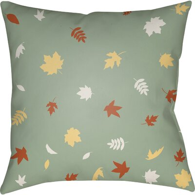 Falling Leaves Indoor/Outdoor Throw Pillow Size: 18 H x 18 W x 4 D, Color: Green/Orange/Yellow