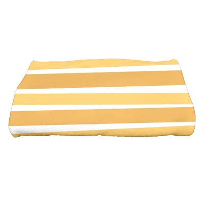 Hannukah Stripes Bath Towel Color: Gold