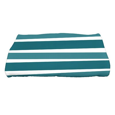 Hannukah Stripes Bath Towel Color: Teal