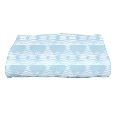 Hannukah Star Light Bath Towel Color: Light Blue