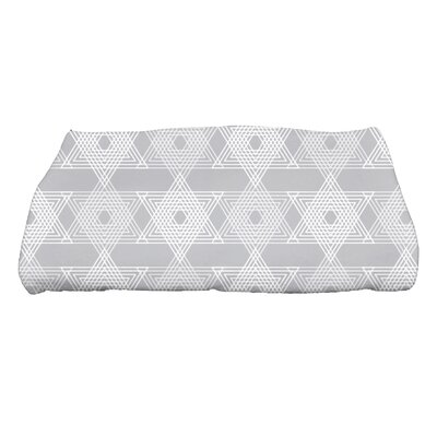 Hannukah Star Light Bath Towel Color: Gray
