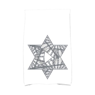 Hannukah Star Mosaic Hand Towel Color: Gray