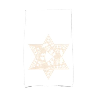 Hannukah Star Mosaic Hand Towel Color: Cream