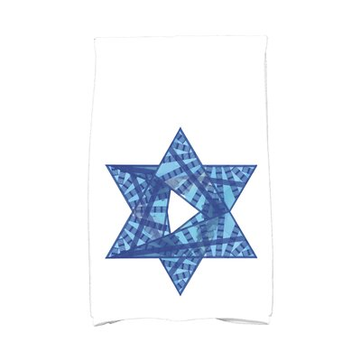 Hannukah Star Mosaic Hand Towel Color: Blue