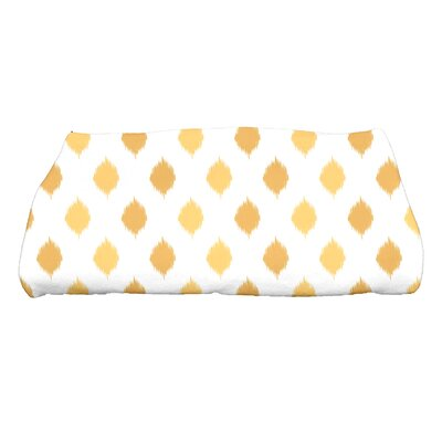Hannukah Ikat Dot Stripes Bath Towel Color: Yellow