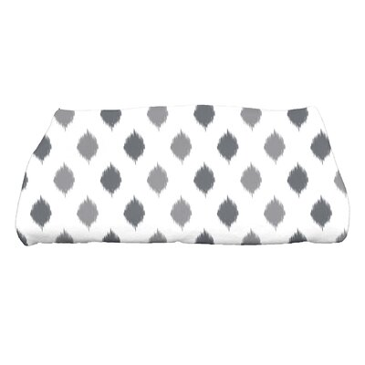 Hannukah Ikat Dot Stripes Bath Towel Color: Gray