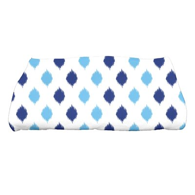 Hannukah Ikat Dot Stripes Bath Towel Color: Blue