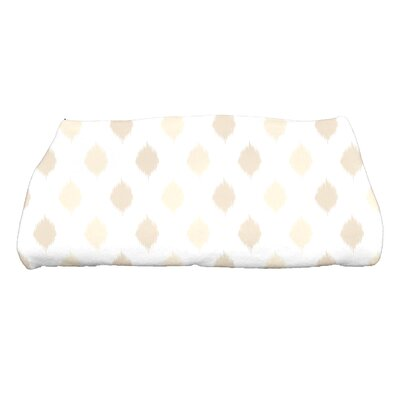 Hannukah Ikat Dot Stripes Bath Towel Color: Cream