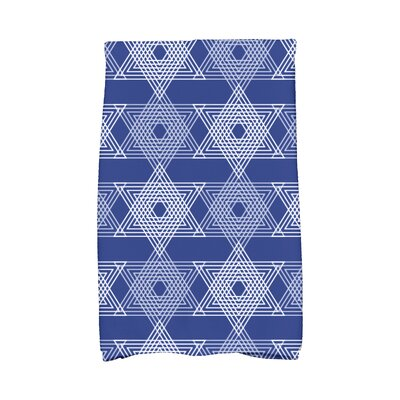 Hannukah Star Light Hand Towel Color: Blue