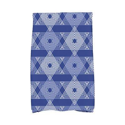 Hannukah Star Light Hand Towel Color: Blue