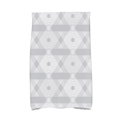 Hannukah Star Light Hand Towel Color: Gray