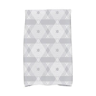 Hannukah Star Light Hand Towel Color: Gray