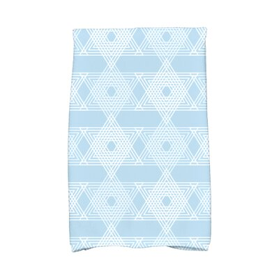 Hannukah Star Light Hand Towel Color: Light Blue