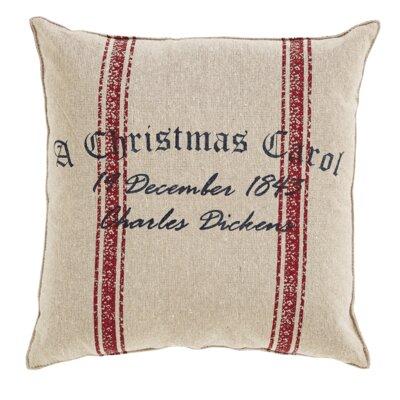 A Christmas Carol Date Cotton Throw Pillow