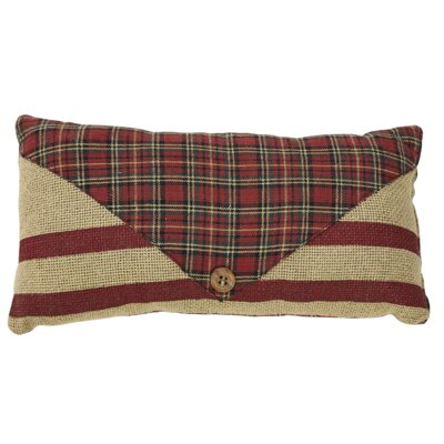 Tartan Holiday 2 Piece Santas Mail Lumbar Pillow Set