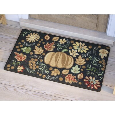 Havest Tapestry Black Area Rug