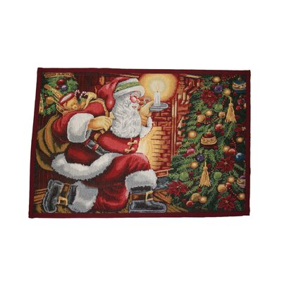 Seasonal Santa Claus Design Novelty Rug Rug Size: Rectangle 17 x 23