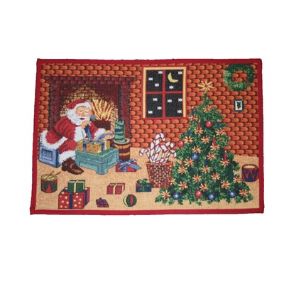 Seasonal Santa Claus Design Novelty Rug Rug Size: 17 x 23