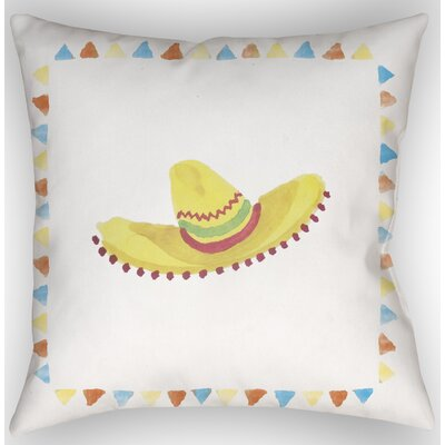 Sombrero Indoor/Outdoor Throw Pillow Size: 18 H x 18 W x 4 D