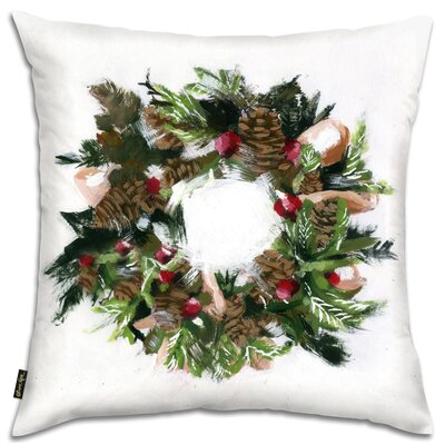 Wreath Throw Pillow