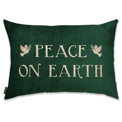 Peace Sign Lumbar Pillow