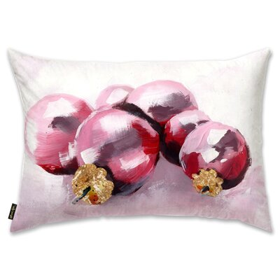 Pink Christmas Lumbar Pillow