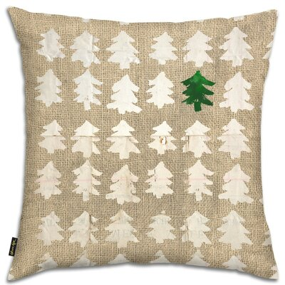 Blanc Trees Throw Pillow