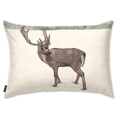 Lone Reindeer Lumbar Pillow