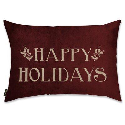 Happy Holidays Lumbar Pillow
