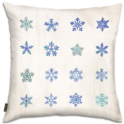 Snowflakes Throw Pillow