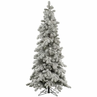 Flocked Kodiak 7' White Spruce Artificial Christmas Tree with Unlit HLDY2246 32357892