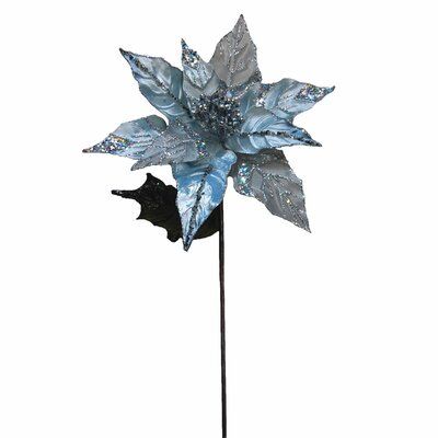 Glitter Poinsettia Flower Ornament HLDY2334 32358160