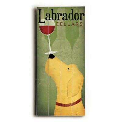 Labrador Wine Dog Wooden Wall Décor Size: 24 H x 10 W x 0.75 D