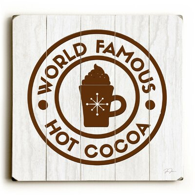 World Famous Hot Cocoa Brown Wooden Wall Décor