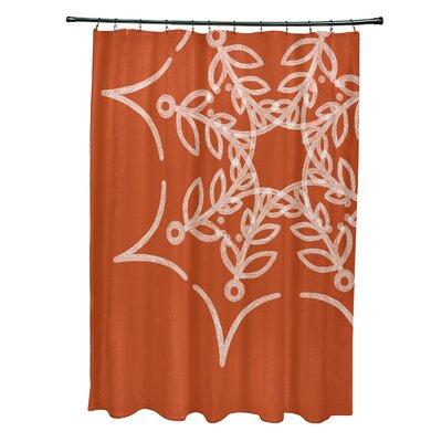 Web Art Holiday Print Shower Curtain Color: Orange
