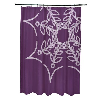 Web Art Holiday Print Shower Curtain Color: Purple