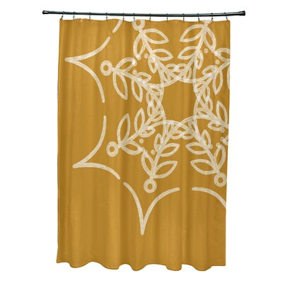 Web Art Holiday Print Shower Curtain Color: Yellow
