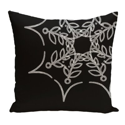 Web Art Holiday Print Throw Pillow Color: Black