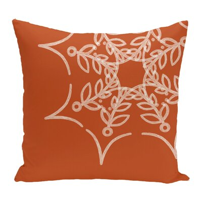 Web Art Holiday Print Throw Pillow Color: Orange